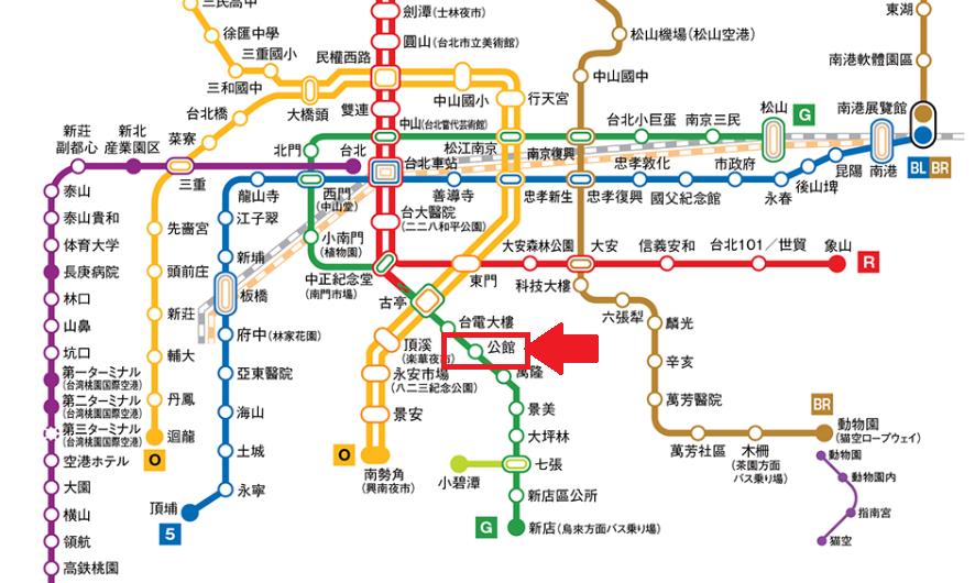台北MRT台湾大学までの行き方