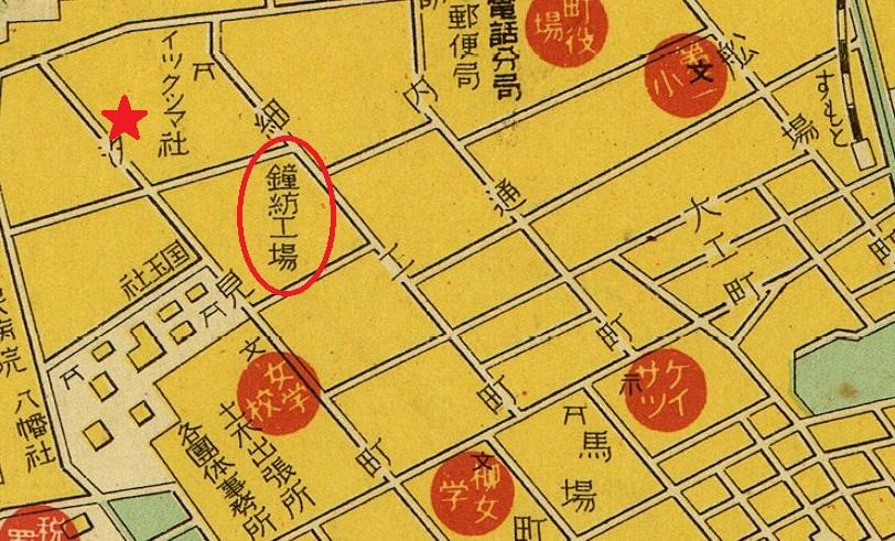 1935年洲本市地図戦前