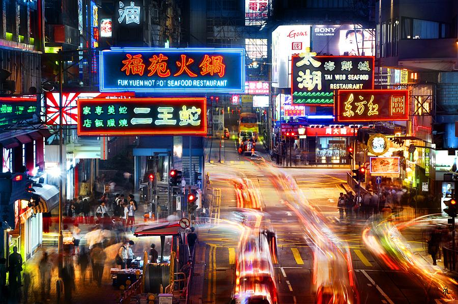 香港夜景フリー画像