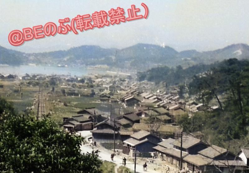 昭和30年代淡路島福良のカラー化写真
