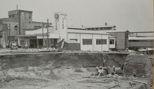 昭和12年1937年御堂筋線天王寺駅掘削工事中