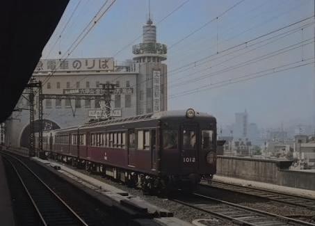 昔の阪急神戸三宮駅カラー化