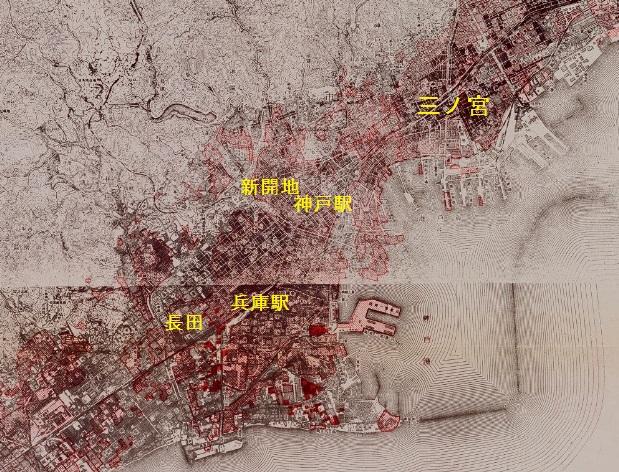 神戸空襲戦災地図3月