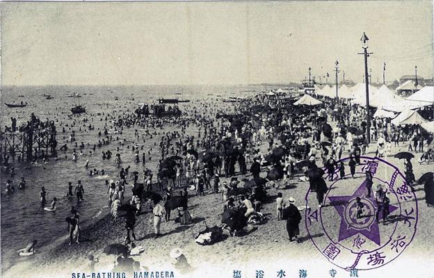戦前の浜寺海水浴場