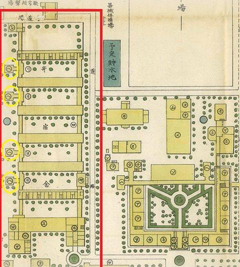 旧制姫路高校白陵寮地図
