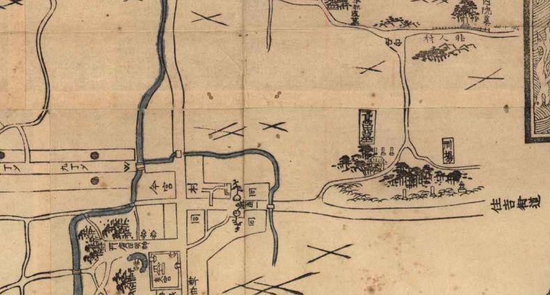 昔の今宮鳶田飛田の地図
