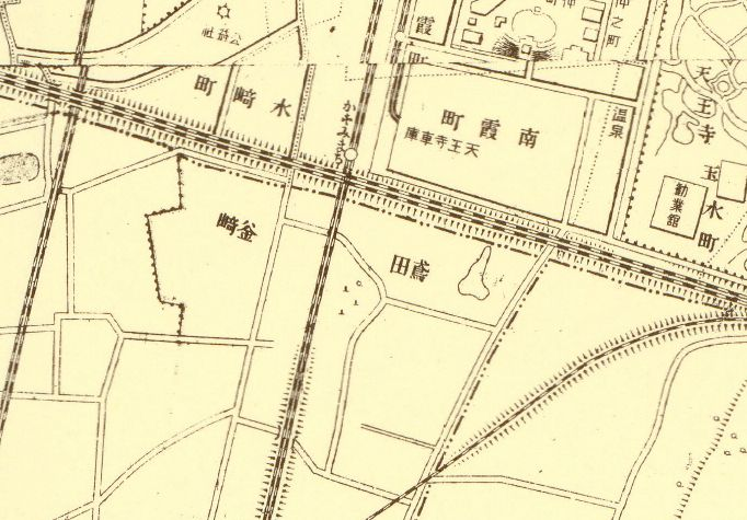 1914年大阪飛田釜ヶ崎地図