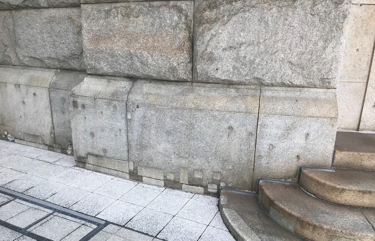 神戸商船三井ビルディング機銃掃射跡