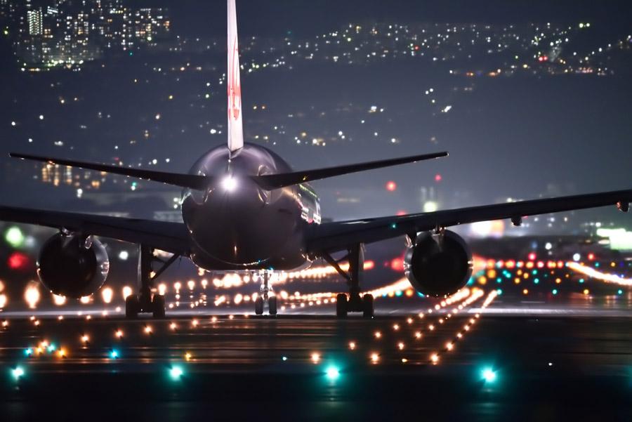 大阪空港の夜景