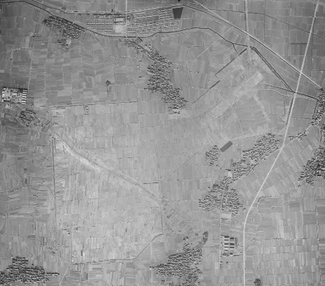 昭和23年盾津飛行場跡航空写真