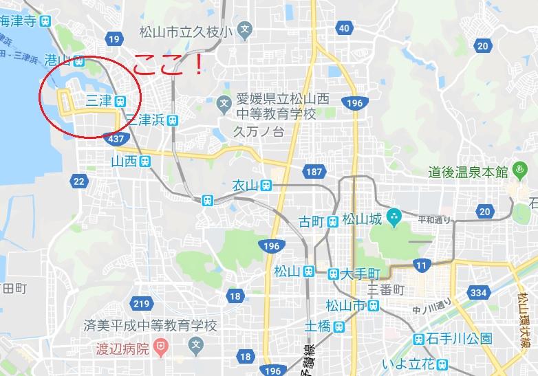 愛媛県松山市三津浜地図