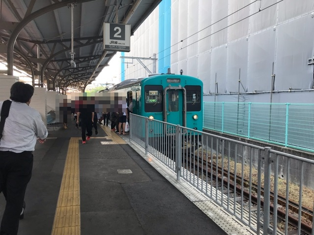 JR和歌山市駅と105系