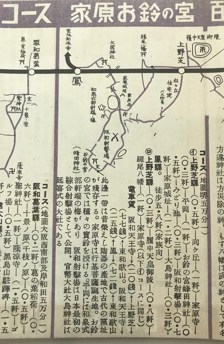 阪和電鉄鈴の宮ハイキング