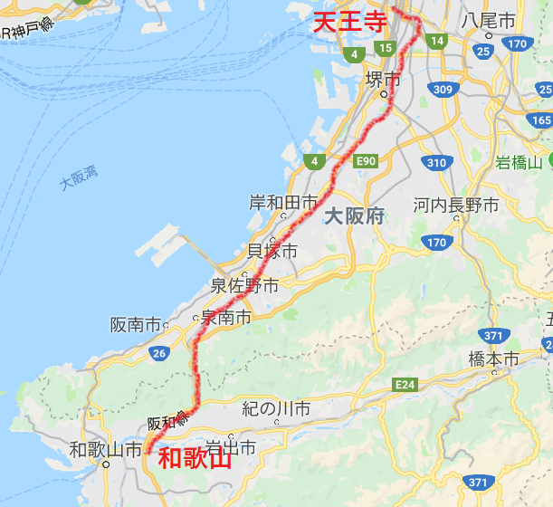 JR阪和線路線
