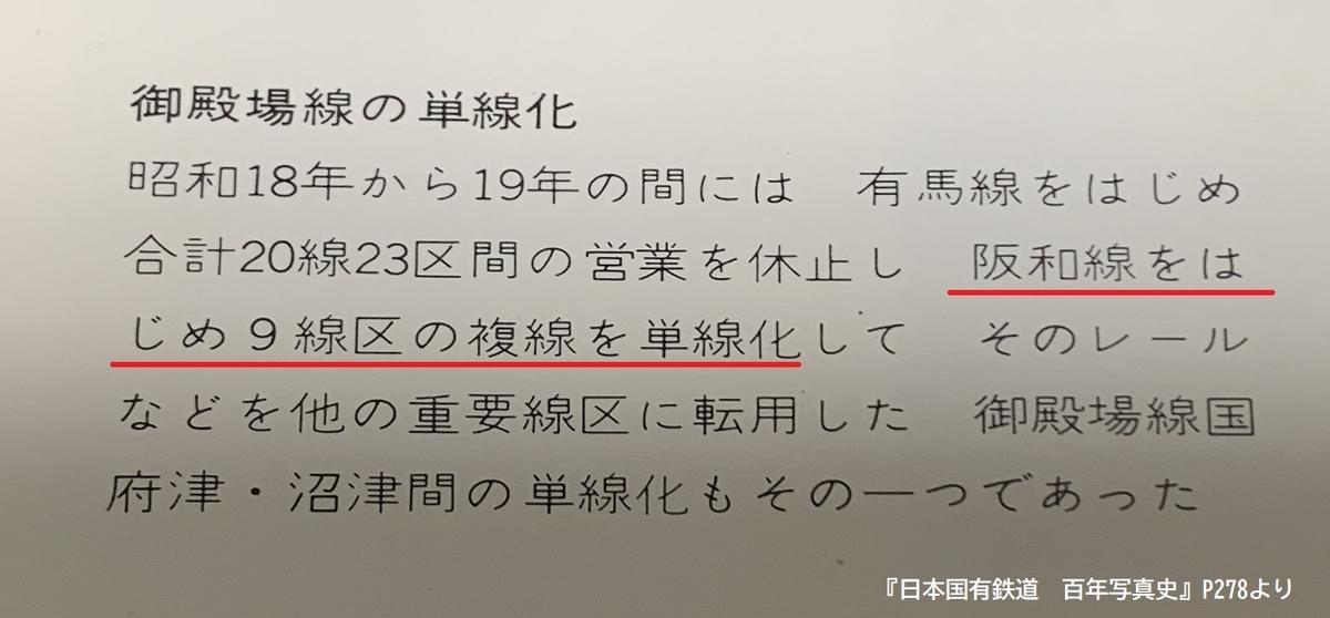 阪和線国有化単線