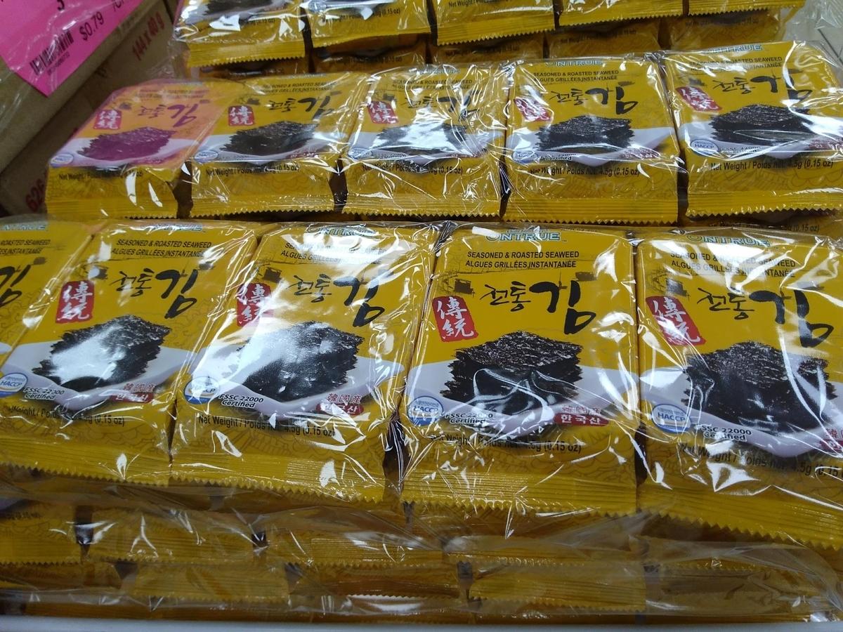 韓国海苔一食分づつ個別包装 プラスティック過剰包装