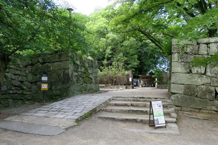 和歌山城 台所門跡