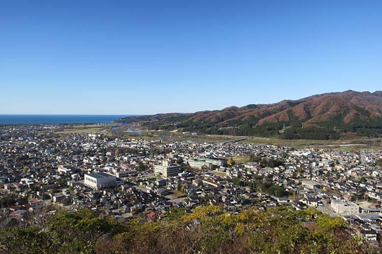 村上城からの眺め
