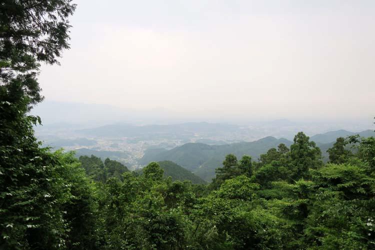 高取城 城下の眺め