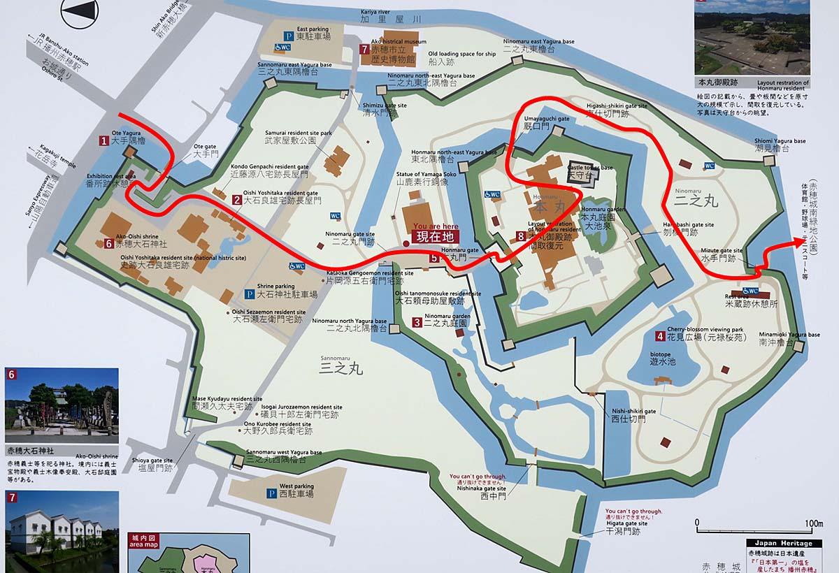 赤穂城 縄張図