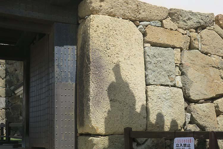 姫路城 転用石