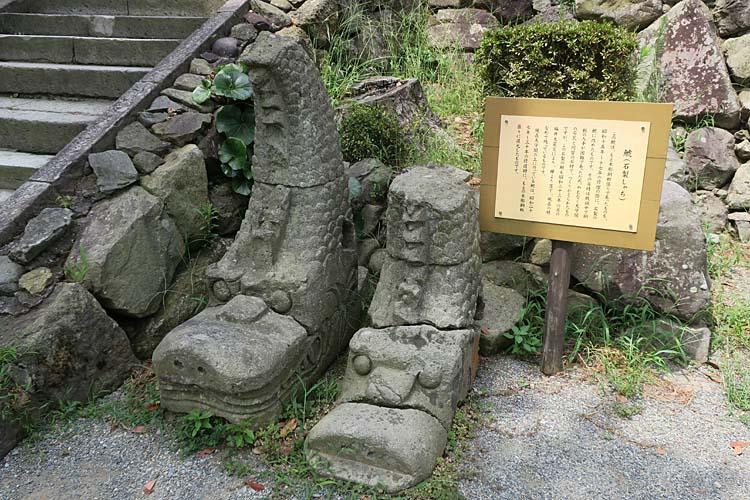 丸岡城 石製鯱
