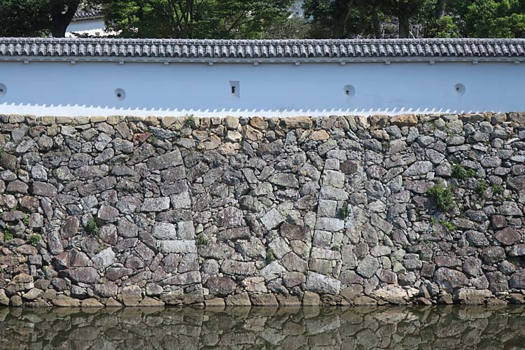 姫路城 三国堀の石垣