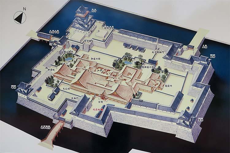 福井城 本丸復元図