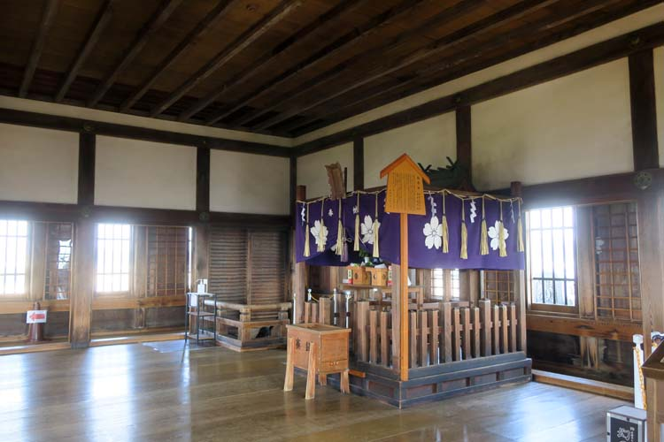 姫路城 天守最上階