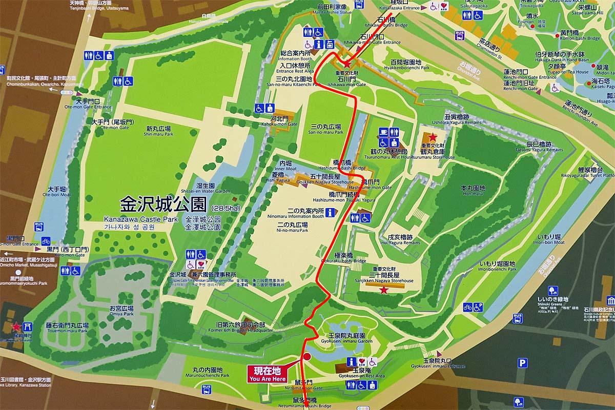 金沢城 縄張図