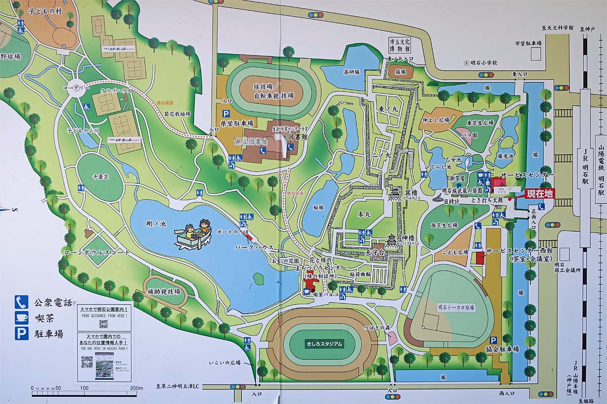 明石城 縄張図