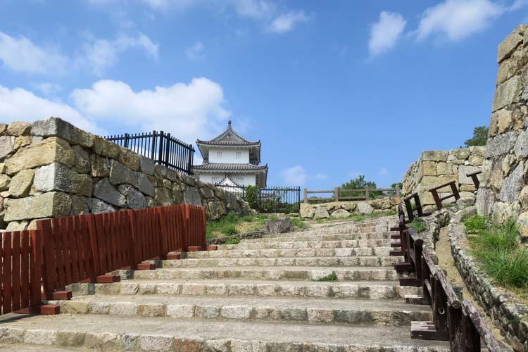明石城 石段
