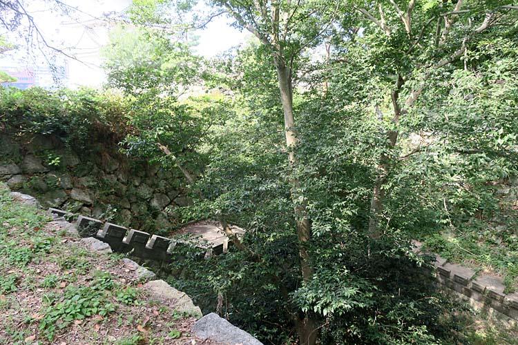 明石城 空堀