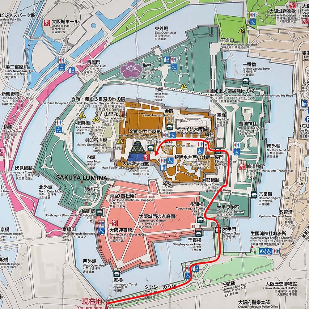 大阪城 縄張図