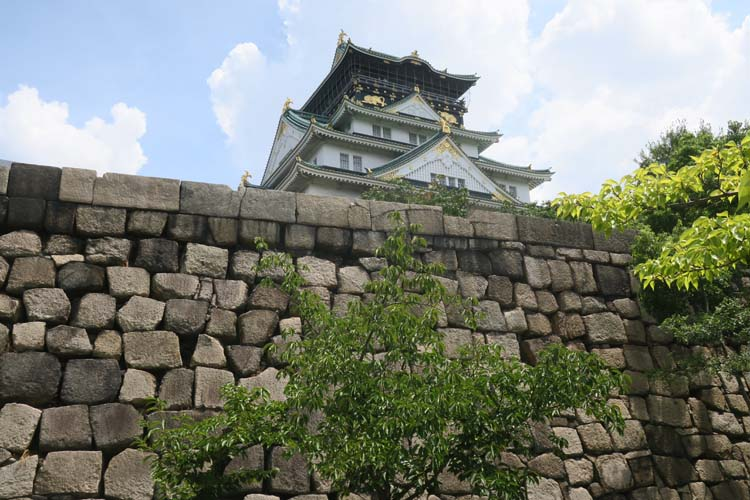 大阪城 隠し曲輪からの天守