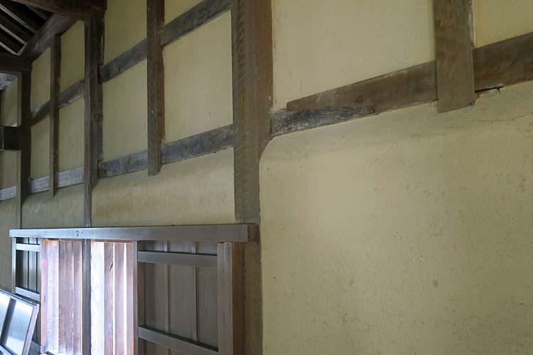 彦根城 天秤櫓内壁