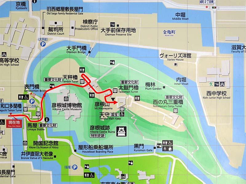 彦根城 縄張図