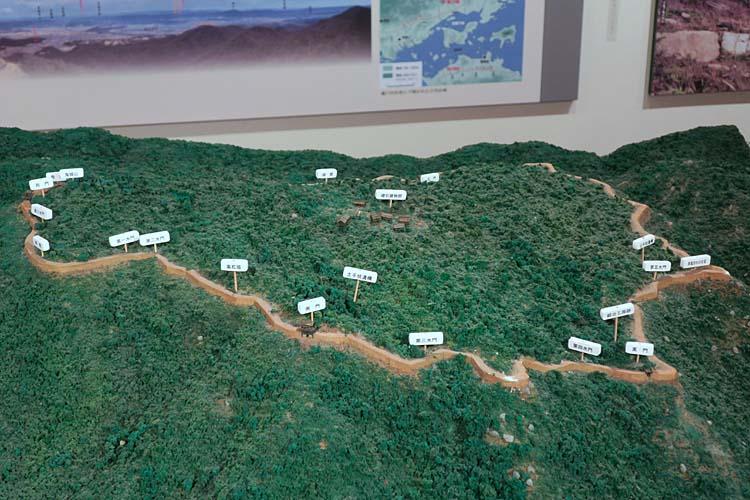 鬼ノ城の模型