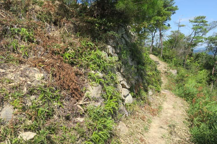 鬼ノ城 城壁外の道