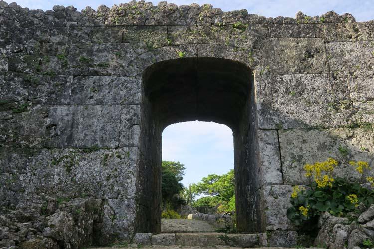 中城城 三の郭アーチ門