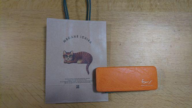 眼鏡市場の猫のイラストの手提げ袋