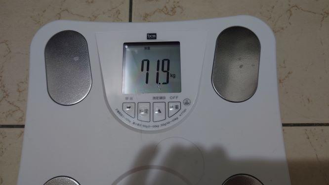 中年男性のダイエット記録、体重の増減