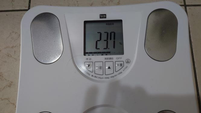 体脂肪率の結果