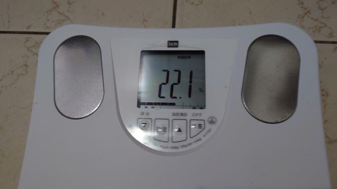 体脂肪率の推移