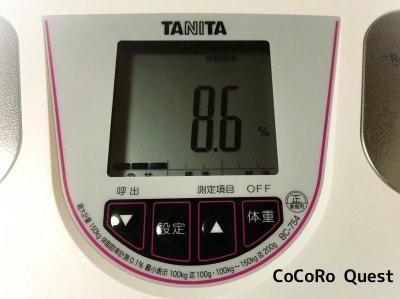体脂肪率一桁