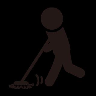 5:床は全員で拭く。