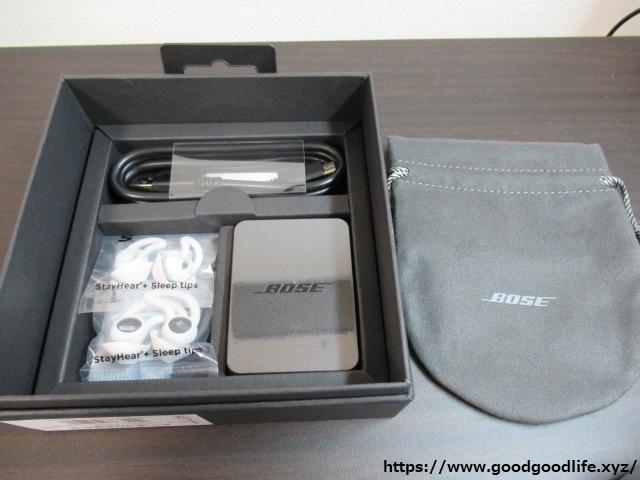 Bose noise-masking sleepbuds NMsleepbuds 付属品