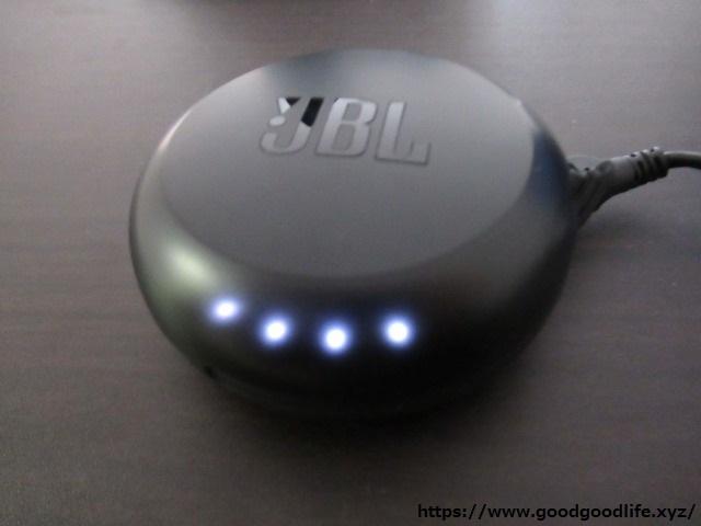 JBL FREE X ケースのバッテリー残量