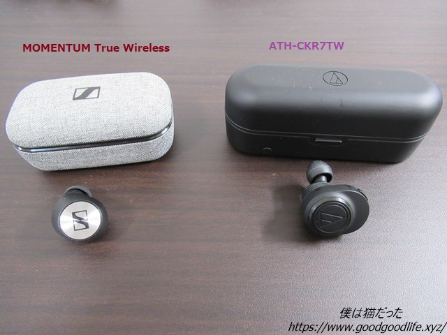 Momentum True WirelessとATH-CKR7TWを比較