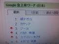 Google急上昇ワード1位でありんすえ〜